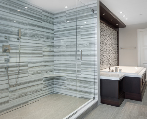 interior design master bath - with shower - after